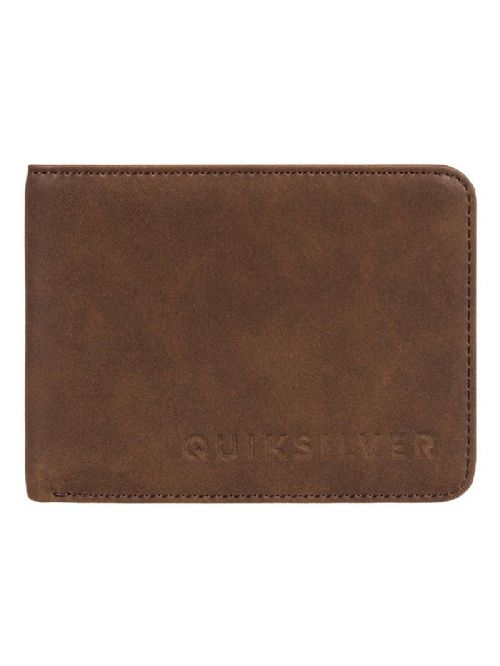QUIKSILVER MENS WALLET.SLIM VINTAGE FAUX LEATHER BROWN MONEY CARD PURSE 8W 86 CQ